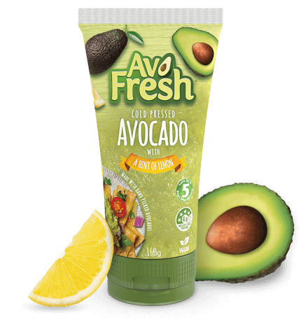 Cold pressed avocado with a hint of lemon